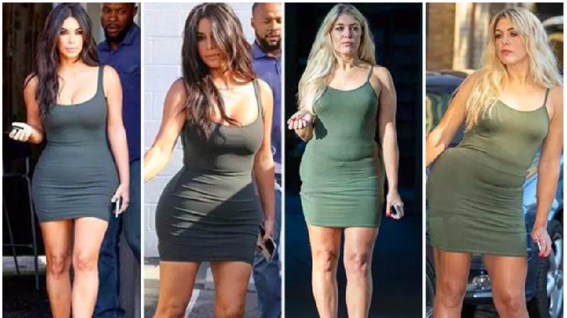 Elle s'essayer à ressembler à Kim Kardashian,... et cela lui coute la peau de fesse !
