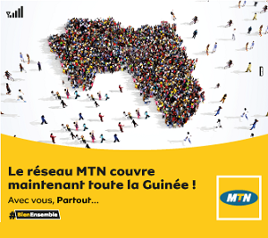 Le reseaux MTN couvre maintenant toutes la Guinée